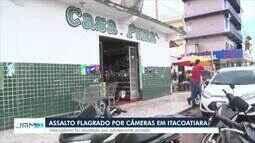 Assaltantes invadem supermercado em Itacoatiara