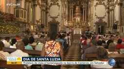 Fiéis católicos comemoram o Dia de Santa Luzia nesta quinta-feira (13)