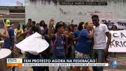Federação: estudantes protestam contra projeto de reestruturação das escolas do estado