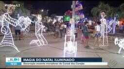 Trabalho de artesãos ajuda a decorar centro de Canaã dos Carajás para o Natal