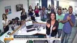 Colaboradores da TV Rio Sul homenageiam Arnaldo Cezar Coelho