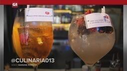 G1 em 1 Minuto - Santos: Drinks 'Aperol Cherry' e 'Iemanjá' são ideais para brindar o Ano