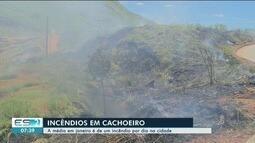 Média de incêndios em Cachoeiro em 2019 já é de um por dia, dizem bombeiros