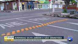 Redutor de velocidade é instalado no cruzamento da Silva Jardim com São Sebastião