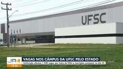 UFSC oferece quase duas mil vagas