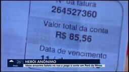 Conta perdida com dinheiro é paga e une moradores em Pará de Minas