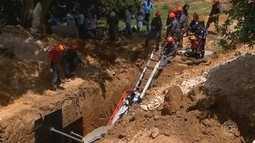 Corpo de trabalhador soterrado em Sorocaba é enterrado