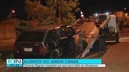 Câmeras flagram acidente no Jardim Canaã em Uberlândia