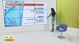 Justiça decide que motorista deve pagar taxa de R$ 202,55 ao Detran-RJ