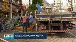 Começa a montagem da estrutura para o Carnaval em Nova Friburgo, no RJ