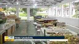 Parque de exposições oferece feira saudável