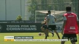 Corinthians deve repetir a mesma equipe que venceu o São Paulo na Copa do Brasil