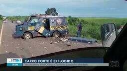 Criminosos explodem carro-forte e fogem com dinheiro perto de Guaraí