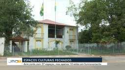 Espaços de cultura estão fechados em Rio Branco e frequentadores reclamam