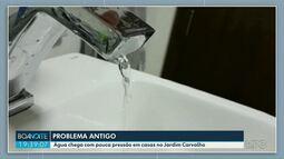 Água chega com pouca pressão em casas no Jardim Carvalho em Ponta Grossa