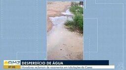 Moradores reclamam de vazamentos em tubulações da Caesa, em Macapá