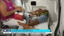 Mãe esfaqueia marido que agrediu bebê em Uberlândia