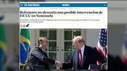 Reunião entre Trump e Bolsonaro preocupa Maduro