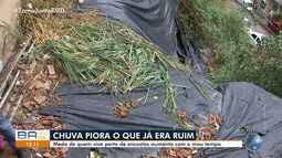 Temporal: moradores reclamam da falta de encostas na Fazenda Grande do Retiro, em Salvador