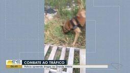 Polícia apreende drogas na Grande Vitória com ajuda de cães farejadores, no ES