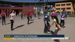 Projeto social ensina pessoas a andar de patins