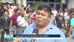 Segundo dia de protestos dos indígenas em RO