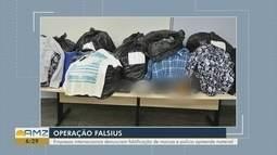 Roupas falsificadas são apreendidas durante operação em Manaus