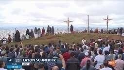 Cerca de 80 mil fiéis devem participar da encenação da Paixão de Cristo em Lages