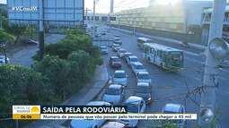 Veja como está o movimento no terminal rodoviário para o feriado de Páscoa