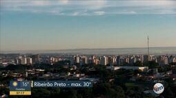 Confira a previsão do tempo para esta sexta-feira (19) em Ribeirão Preto