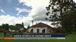 Visitação no Parque Histórico de Carambeí é gratuita até sábado