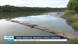 Lagoa Azul de Vilhena é danificada após provável dano ambiental
