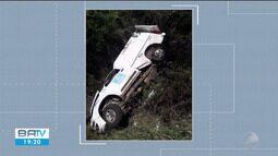 Pai e filho morrem em acidente na Estrada do Feijão, na região de Feira de Santana