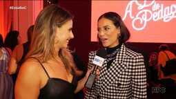 Daiane Fardin participa da festa de estreia de 'A Dona do Pedaço'