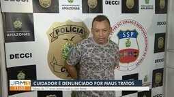 Cuidador é preso suspeito de maltratar idosa de 77 anos, em Manaus