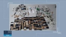 Deap apreende celulares e drogas em operação no presídio de Joinville