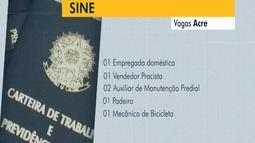 Veja as vagas que o Sine Acre oferta nesta quarta-feira (22) em Rio Branco