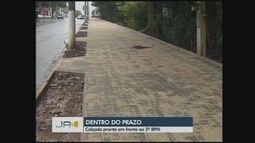 Giro de notícias; Reforma de calçada é entregue em Chapecó