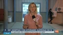 Superlotado, hospital de Balneário Camboriú suspende realização de partos