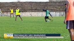 São Raimundo: Everton Goiano treina para corrigir falhas da defesa