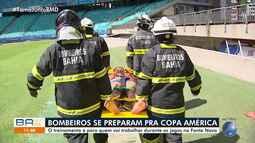 Bombeiros realizam treinamento para a Copa América