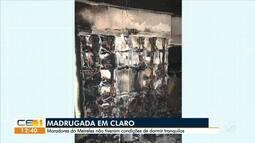 Principio de incêndio em prédio assusta moradores do Meireles