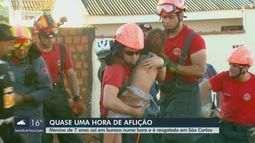 Menino de 7 anos cai em buraco de 5 metros em São Carlos