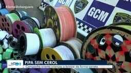 Guarda Civil faz campanha 'Pipa sem Cerol' em escolas de Goiânia