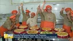 Curso gratuito de pizzaiolo oferece capacitação para jovens com síndrome de Down