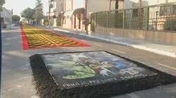 Cidades da região enfeitam as ruas no feriado de Corpus Christi