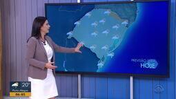Frente fria deixa temperaturas mais baixas nesta terça-feira (25) no RS