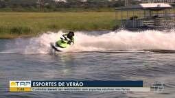 Cuidados com esportes náuticos devem ser redobrados nas férias