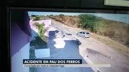 Vídeo mostra acidente em Pau dos Ferros