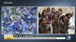 Dia da Caridade: Santa Casa da Bahia recebe doação de leite em pó para crianças